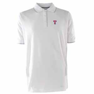 Texas Rangers Mens Elite Polo Shirt (Color: White) - X-Large