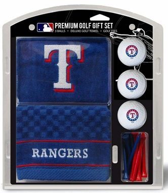 Texas Rangers Embroidered Towel Golf Gift Set