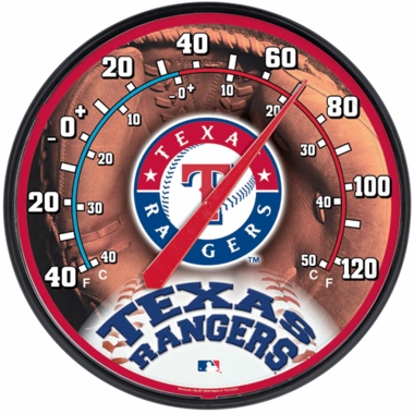 Texas Rangers Round Wall Thermometer