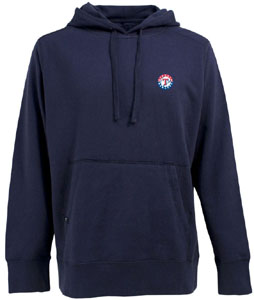 Texas Rangers Mens Signature Hooded Sweatshirt (Color: Navy) - Large