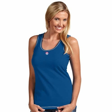 Texas Rangers Womens Sport Tank Top (Color: Royal)