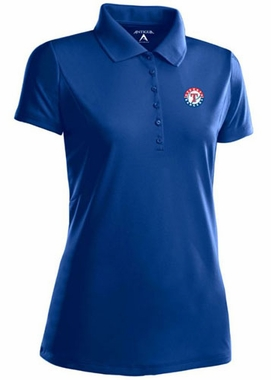 Texas Rangers Womens Pique Xtra Lite Polo Shirt (Color: Royal)