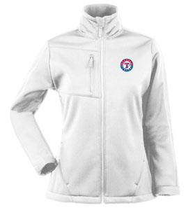 Texas Rangers Womens Traverse Jacket (Color: White) - Small