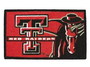 Texas Tech 18x30 Bleached Welcome Mat