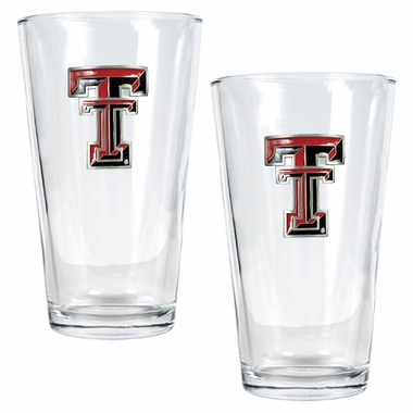 Texas Tech 2 Piece Pint Glass Set
