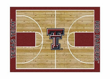 "Texas Tech 3'10"" x 5'4"" Premium Court Rug"