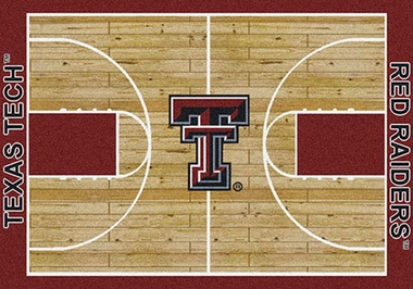 "Texas Tech 7'8"" x 10'9"" Premium Court Rug"