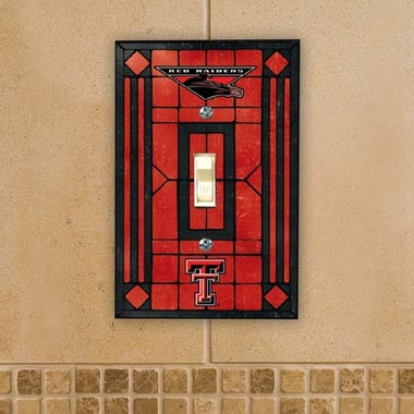 Texas Tech Art Glass Lightswitch Cover