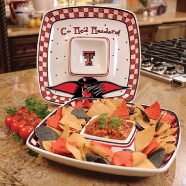 Texas Tech Gameday Ceramic Chip and Dip Platter