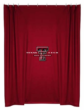 Texas Tech Jersey Material Shower Curtain