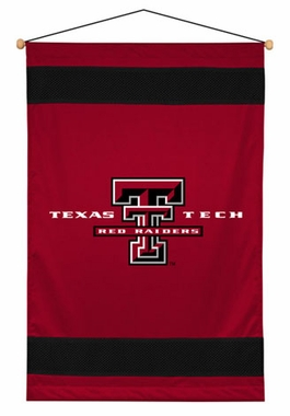 Texas Tech SIDELINES Jersey Material Wallhanging