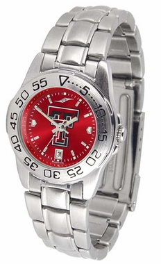 Texas Tech Sport Anonized Women's Steel Band Watch