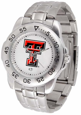Texas Tech Sport Men's Steel Band Watch