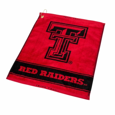 Texas Tech Woven Golf Towel