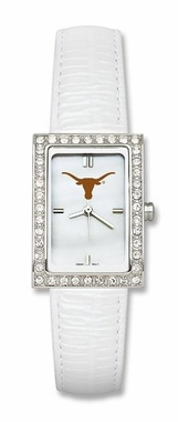 Texas Women's White Leather Strap Allure Watch
