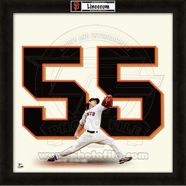 "Tim Lincecum, Giants UNIFRAME 20"" x 20"""