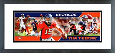 Tim Tebow Framed / Double Matted Photoramic