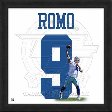 "Tony Romo, Cowboys UNIFRAME 20"" x 20"""