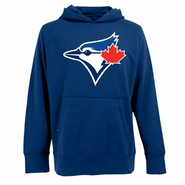 Toronto Blue Jays Big Logo Mens Signature Hooded Sweatshirt (Color: Royal)