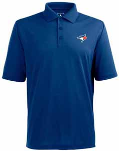 Toronto Blue Jays Mens Pique Xtra Lite Polo Shirt (Color: Blue) - X-Large