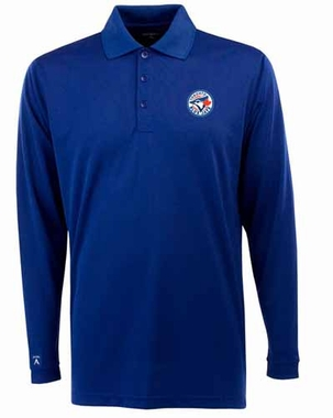Toronto Blue Jays Mens Long Sleeve Polo Shirt (Color: Blue)