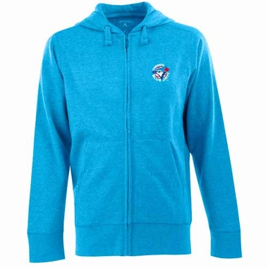 Toronto Blue Jays Mens Signature Full Zip Hooded Sweatshirt (Cooperstown) (Color: Aqua)