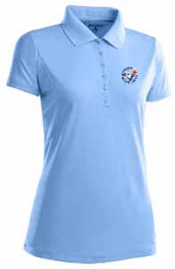 Toronto Blue Jays Womens Pique Xtra Lite Polo Shirt (Cooperstown) (Color: Aqua) - Large