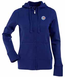 Toronto Blue Jays Womens Zip Front Hoody Sweatshirt (Color: Blue) - Medium