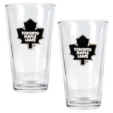 Toronto Maple Leafs 2 Piece Pint Glass Set
