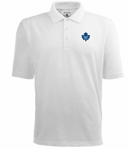 Toronto Maple Leafs Mens Pique Xtra Lite Polo Shirt (Color: White) - Medium