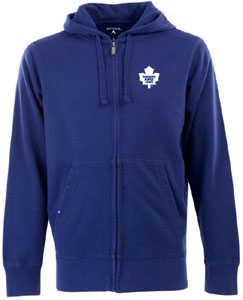 Toronto Maple Leafs Mens Signature Full Zip Hooded Sweatshirt (Color: Royal) - XX-Large