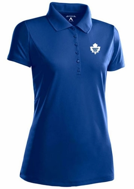 Toronto Maple Leafs Womens Pique Xtra Lite Polo Shirt (Color: Royal)