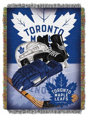 Toronto Maple Leafs Woven Tapestry Blanket