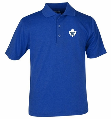 Toronto Maple Leafs YOUTH Unisex Pique Polo Shirt (Color: Royal)
