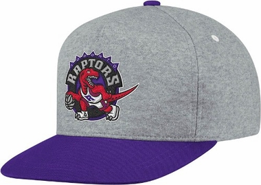 Toronto Raptors Heather Pinch Panel Snap Back Hat