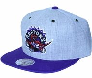 Toronto Raptors Mitchell   Ness NBA Throwback Heather Grey Strap Back Hat 1321b01e5c7