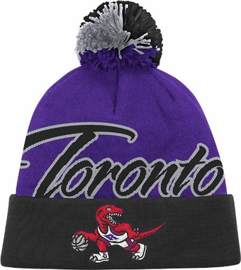 Toronto Raptors National City Vintage Cuffed Pom Hat