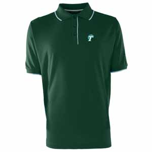 Tulane Mens Elite Polo Shirt (Color: Green) - Small