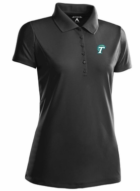 Tulane Womens Pique Xtra Lite Polo Shirt (Color: Black)