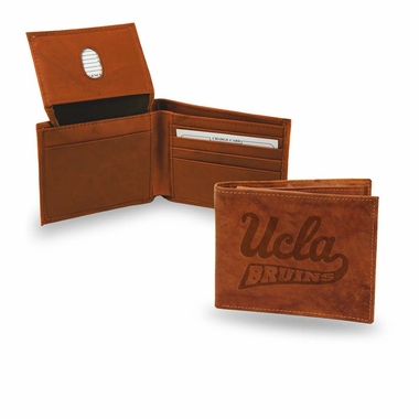 UCLA Embossed Leather Bifold Wallet