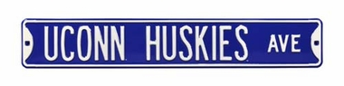 UConn Huskies Ave Street Sign
