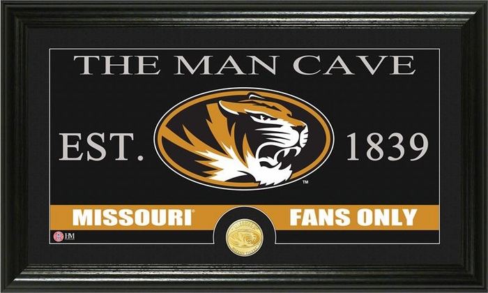 The Man Cave Decor Store Riverside Mo : University of missouri quot man cave bronze coin panoramic