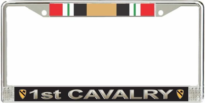 Us Army 1st Cavalry Division Iraq Veteran License Plate Frame