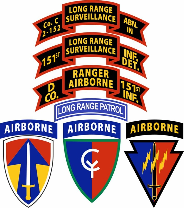 Us Army Co D Ranger 151st Infantry Airborne Decal