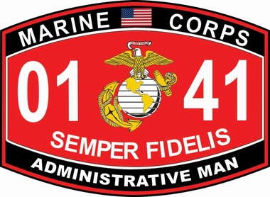 US Marines Administrative Man Marine Corps MOS 0141 USMC Military Decal