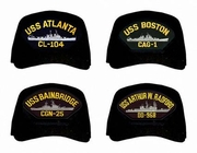 US Navy Cruisers and Destroyers Caps