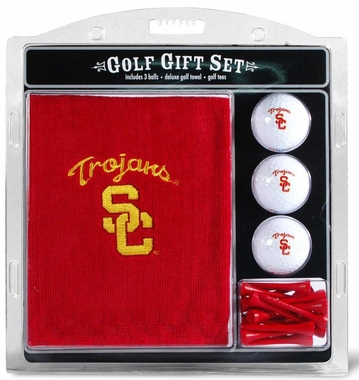 USC Embroidered Towel Golf Gift Set