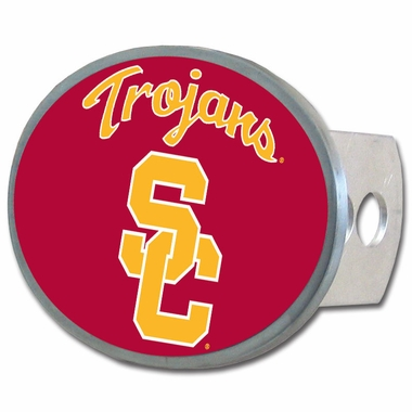 USC Oval Metal Hitch Cover