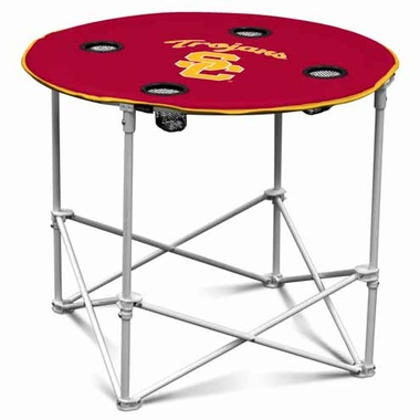 USC Round Tailgate Table