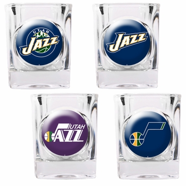 Utah Jazz 4 Piece Assorted Shot Glass Set